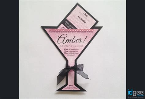 diy martini diy cocktail glass hens invitation cocktail glass cutout