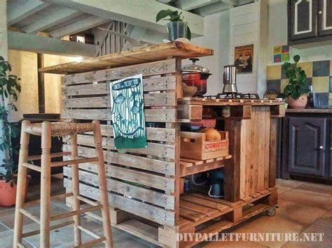bar höhe kitchen island mueblesdepalets net cocina isla hecha con palets