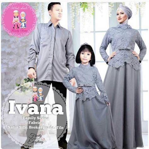Suplier Baju Gamis Ibu Dan Anak Kc176 jual seragam keluarga kombinasi brokat sa ma ra boutique butik baju pesta keluarga muslim