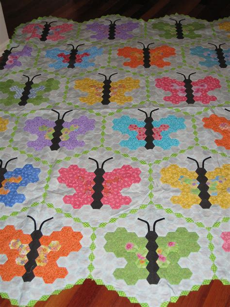 quilt pattern hexagon butterfly hexagon quilt flickr photo sharing