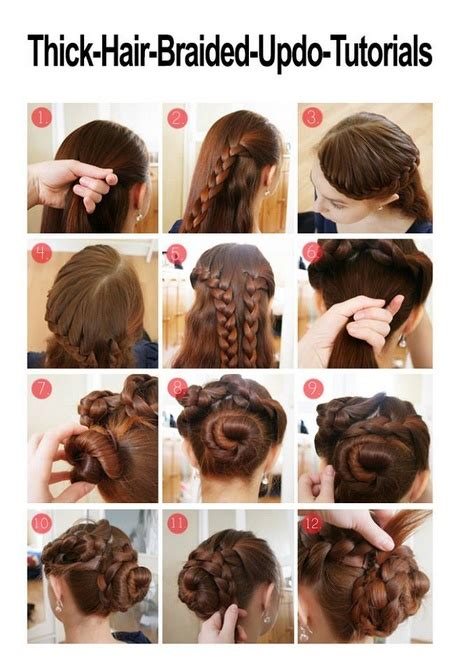 diy hairstyles for thick hair easy updos for long thick hair
