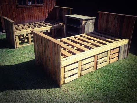 pallet bed with storage diy pallet beds with storage 99 pallets