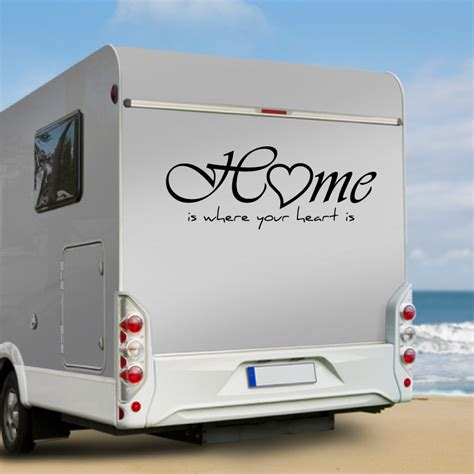 Aufkleber Spr Che Wohnmobil by Wa316 Wohnmobil Aufkleber Home Is Where Your Heart Is