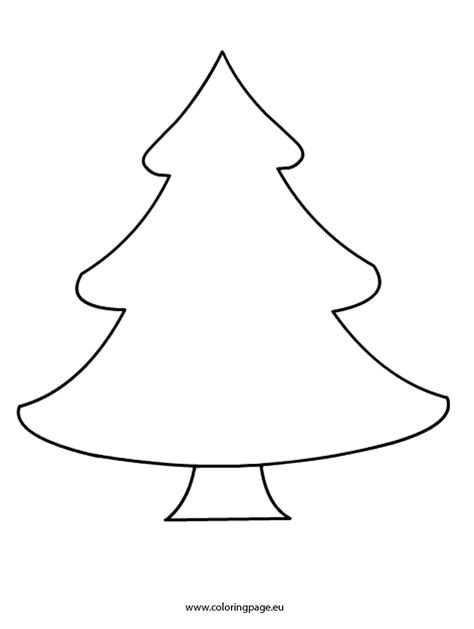 download coloring pages plain christmas tree coloring