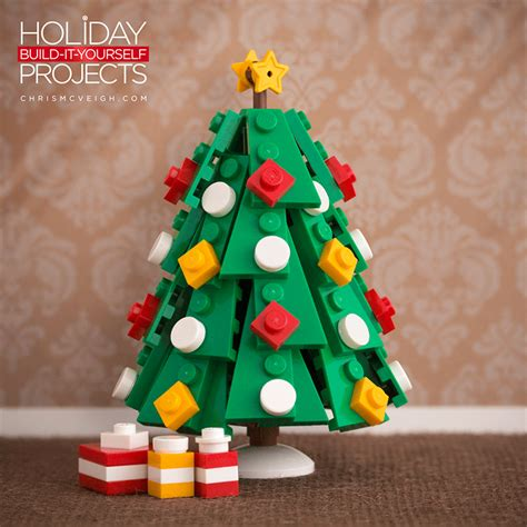 how to make a lego christmas tree custom built lego tree ornaments by chris mcveigh