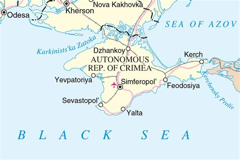 Map Of Crimea Source Un Cartographic Section Dfs The