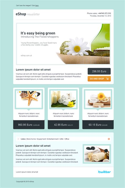 email newsletter layout themeforest eshop email newsletter template premium