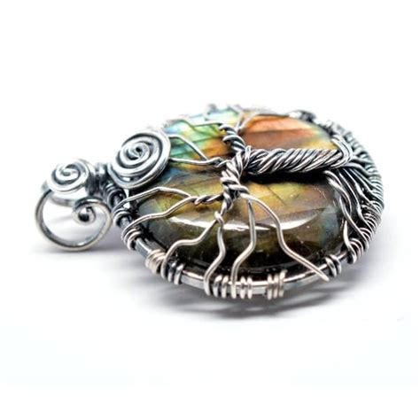 Exclusive Limited Edition Aura Quantum Pendant Only With Card Sn rainbow labradorite tree of amulet quantumstones