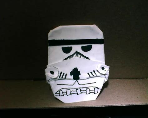 How To Make A Paper Stormtrooper Helmet - origami stormtrooper origami yoda