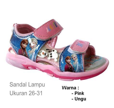 Aka0114 Aksesoris Sepatu Sandal Frozen Pink Sandals jual sendal sepatu lu import frozen elsa olaf pink ungu ag collection