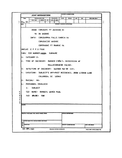 Serious Incident Report Template by Serious Incident Report Army Ideal Vistalist Co