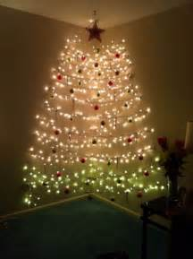 tree made of lights on wall 60 wall tree alternative tree ideas