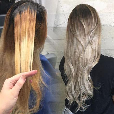 platnim blonde hair after 50 brassy blonde to platinum silver ombre hotonbeauty com