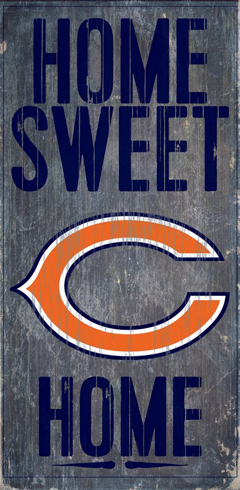 chicago bears home decor chicago bears home sweet home wood sign