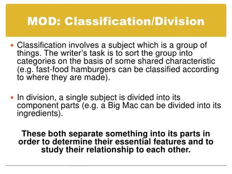 classification pattern paragraph classification essay definition 187 a thesis statement for