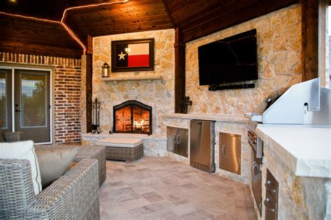 outdoor kitchen designs dallas heath tx outdoor kitchen cabana fireplace rustic