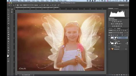 adobe photoshop wings tutorial how to overlay fairy wings in photoshop youtube