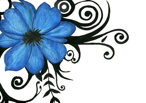 tribal hibiscus flower tattoo designs tribal flower drawings clipart best