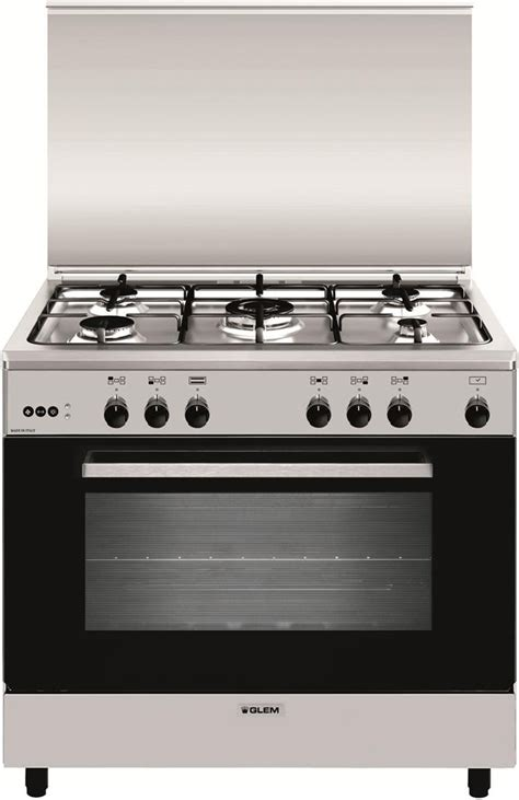 cucina 5 fuochi con forno a gas glem gas cucina a gas 5 fuochi forno a gas ventilato grill