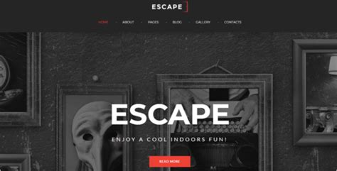 Escape Room Gamming Joomla Template Escape Room Website Template