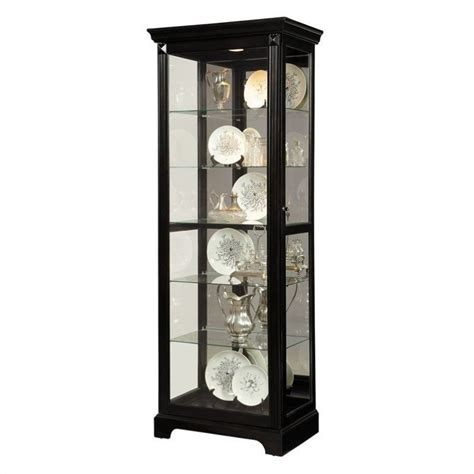 curio cabinet pulaski curio display cabinet in painted black 21459