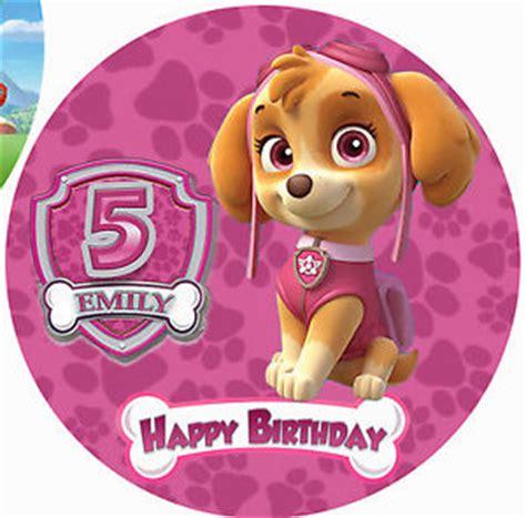 sale cake topper kecil paw patrol paw patrol personalised edible image real icing cake