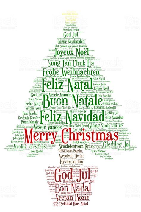 words cloud merry christmas   languages   world stock illustration  image