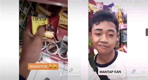 demi konten tiktok viral remaja pria merusak makanan