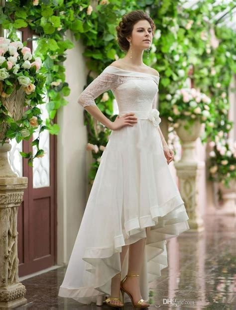 Romantic Vintage Tea length Wedding Dress Plus Size