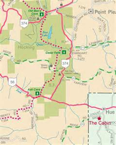Hocking Hills Ohio Map by Beverly Hills Cabin In The Hocking Hills Hocking Hills Map