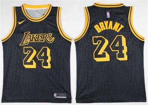 Jersey Authentic Nike Bryant Lakers Black Nba Stitched Jersey Sz nike los angeles lakers 24 bryant black nba swingman city edition jersey