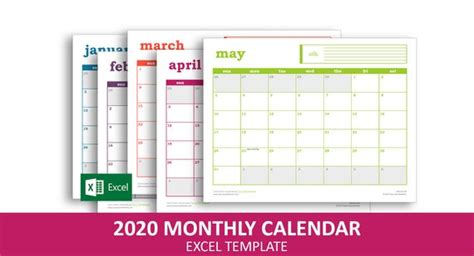 easy event calendar  excel template printable monthly etsy