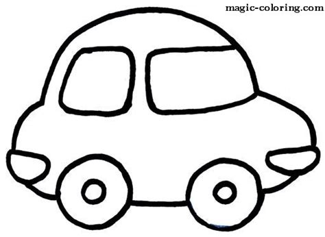 Simple Coloring Pages Of Cars | simple car coloring pages coloring pages