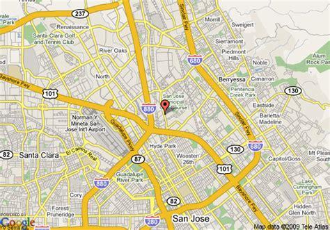 california map showing san jose horizon inn san jose deals see hotel photos