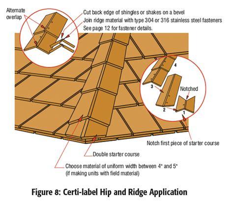 Roof Hips And Ridges roof manual cedar shake and shingle bureau