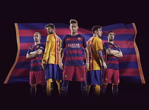 Sandal Club Bola Barcelona nike and fc barcelona unveil bold new home and away kits for 2015 16 nike news