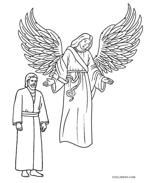 coloring pages angel visits joseph free printable angel coloring pages for kids cool2bkids