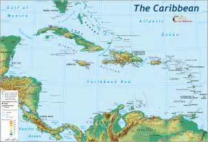 Caribbeans Map by Enjoyingcaribbean