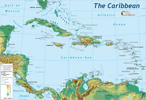 map of the caribbean islands republic travel guide and information on beaches hotels villas rentals