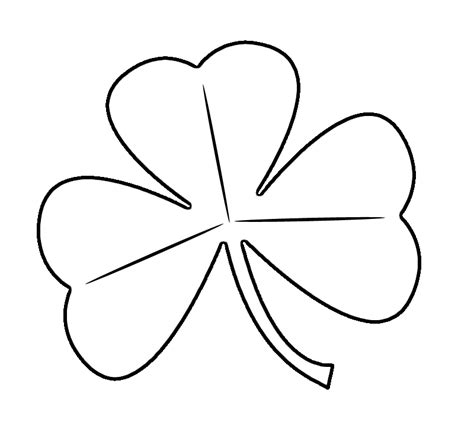 Shamrock Outline Clipart by 4 Leaf Clover Clipart Cliparts Co