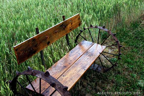 metal wagon wheel bench wagon wheel bench by agresticconcepts on deviantart