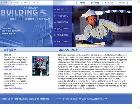 free website templates for construction company free html templates