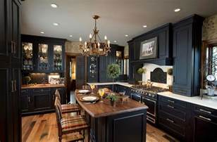 Black Kitchen Cabinets Design Ideas - kitchen design trends set to sizzle in 2015