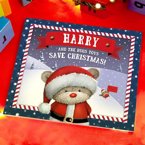 personalised gift book hugs christmas christmas gifts