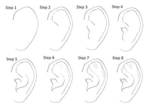 how to do doodle step by step drawing ears step by step character design
