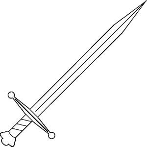 jack knife coloring pages make a decal medieval sword bw020399 weapon