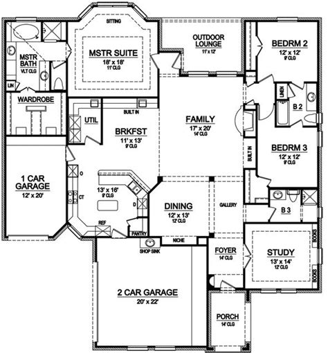 monster house plans style house plans 2706 square foot home 1 story 3