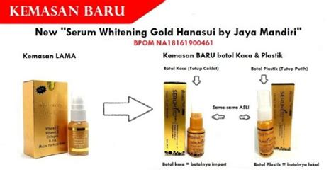 Serum Gold Hanasui Original jual hanasui serum whitening gold harga termurah 100