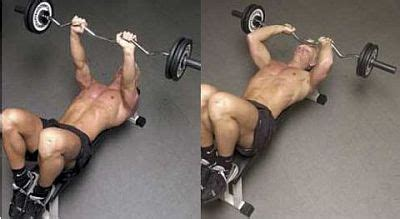 ez curl bar bench press triceps workout 1 lying triceps press or skull crusher by munfitnessblog com