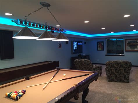 led lights for man cave man cave game room led lighting contemporary family